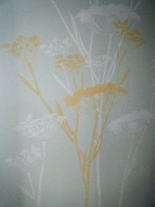 I like this tree stencil for the wardrobe, with colours less subtle...