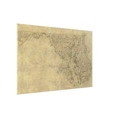 Vintage Map of Maryland (1893) Canvas Print