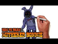 How to draw Withered Bonnie FNAF - Easy step-by-step drawing lessons - YouTube