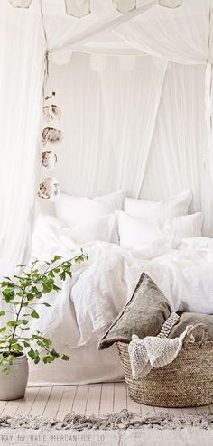 Bohemian bedroom in neutral tones