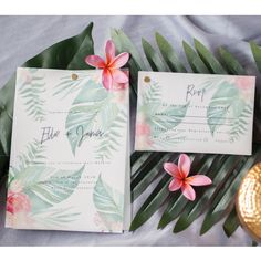Tropical Elopement Wedding Invitation and RSVP cards - Order yours today! www.studiosand.com.au/product-page/tropical-watercolour-package Stationery Design, Wedding Stationery, Wedding Invitations, Elopement Wedding, Elope Wedding, Rsvp, Signage, Watercolour, Tropical