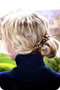 braided bun #mirabellabeauty #braid