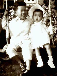♡♔♔♡HRH Crown Prince Maha Vajiralongkorn and HRH Princess Maha Chakri Sirindhorn.