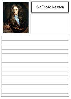 Isaac Newton Biography | Isaac Newton, Worksheets and Biography