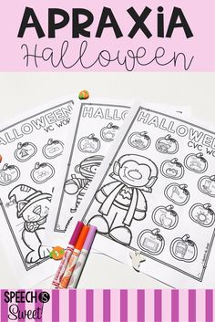 Your speech therapy students will love these Halloween Apraxia printables! They address 8 different syllable patterns such as CV, VC, CVC, CVCVC, and more! These are also great for phonological disorders!