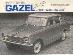 Standard Gazel - Indian built 4 door version of Triumph Herald Old Advertisements, Car Advertising, Morgan Cars, Australian Cars, S Car, Old Ads, Vintage Ads, Art Cars, Cool Cars