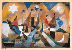Sailing ships waiting for the storm. Paul Klee