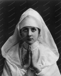 Victorian Praying Nun Portrait 1900s 8x10 Reprint Of Old Photo
