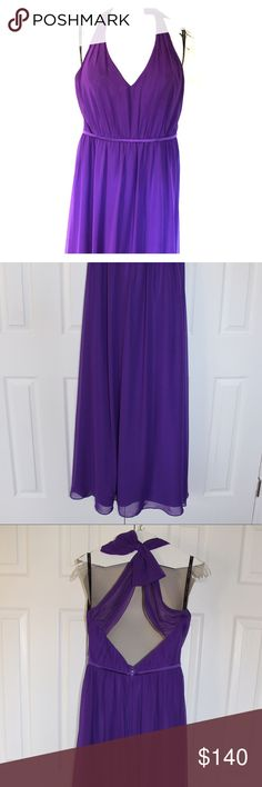 Alfred Angelo floor length bridesmaid dress This floor length bridesmaid dress is the Alfred Angelo style 7333L in Viola.  It is a US size 8 and is unaltered.  It was worn once and has been cleaned.  It has no stains, rips, or signs of wear. Alfred Angelo Dresses Wedding