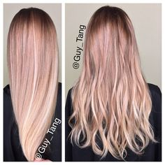 Straight or beachy? #balayage #ombre