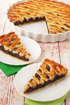 Meggyes-mákos pite - Kifőztük Osho, Quotes French, Healthy Snacks, Healthy Recipes, Pie Tops, Bakery Recipes, No Bake Cake, Food To Make, Food Porn