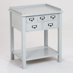 Gray 5-Drawer Preston Table $139.99