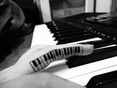 piano keys tattoo
