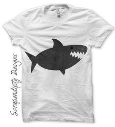 Shark Iron on Transfer - Ocean Iron on Shirt PDF / DIY Shark Shirt / Kids Boys Clothing Tshirt / Shark Birthday Party Printable IT180-C