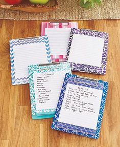 The Set of 5 Magnetic Clipboards & Notepads is a fun idea for someone who likes to stay organized. Keep one right on the fridge so you can jot down notes an