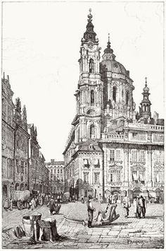 oldbookillustrations: Prague, St. Nicholas.  Samuel Prout, from Sketches by Samuel Prout, by Charles Holme, London, 1915.  (Source: archive.org)