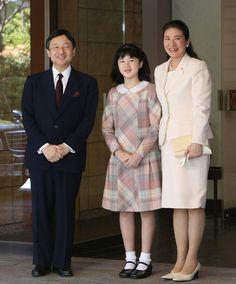 Prince Naruhito, Princess Aiko and Princess Masako of Japan