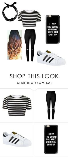 """Untitled #120"" by jazel117 on Polyvore featuring Topshop, adidas, Casetify and New Look"