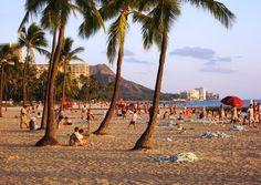 """A view of Diamond Head from Waikiki Beach, near Honolulu, Hawaii."" (From: 30 Beautiful Photos of the Hawaiian Islands)"