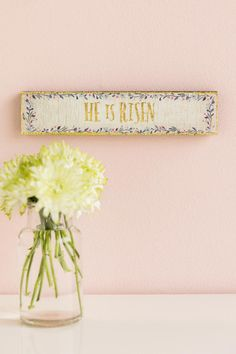 He Is Risen Skinny Wood Sign - gift-cllifestyle