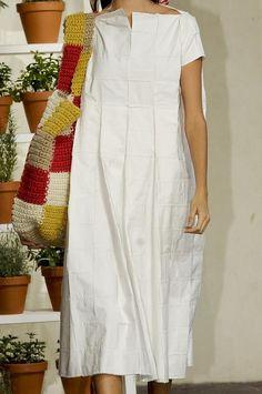 White patch dress