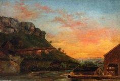 'Tal der Loue', malen von Gustave Courbet (1819-1877, France)