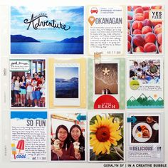 In a Creative Bubble Project Life: Road Trip Insert