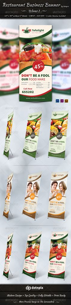 Restaurant Business Banner | Volume 1 — Photoshop PSD #Market Shopping #signage • Available here → https://graphicriver.net/item/restaurant-business-banner-volume-1/7204111?ref=pxcr