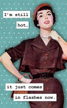 Magnet - I'm Still Hot, It Just Comes In Flashes Now.  via Etsy.