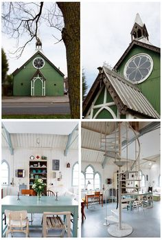 Old church converted into an artist's home in England. Love.