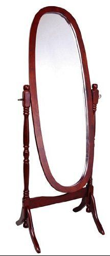 Frenchi Home Furnishing Cheval Mirror in Cherry Finish $47.00 #topseller