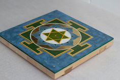 Mercury Yantra - painting for meditation/ yoga space