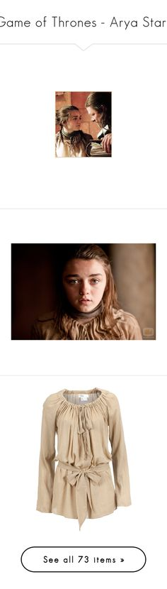 """""""Game of Thrones - Arya Stark"""" by shannen-legere-lavigne ❤ liked on Polyvore featuring GameOfThrones, got, Stark, Arya, game of thrones, people, medieval, tops, tunics and shirts"""