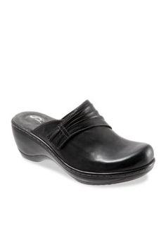 Softwalk Black Mason Clog
