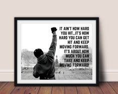 Rocky Quote Movie Poster art - Framed Art 20x30