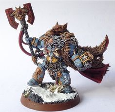 Logan Grimnar by Rogue 7 Warhammer Paint, Warhammer 40000, Warhammer 40k Space Wolves, Silly Games, Wolf Stuff, Warhammer 40k Miniatures, The Grim, Space Marine, Art Model