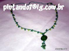 ♥Colar em Crochê Verde Figi♥