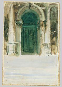 Green Door, Santa Maria della Salute John Singer Sargent (American; 1856–1925) ca. 1904 Watercolor, graphite, gouache, and wax crayon on white wove paper The Metropolitan Museum of Art, New York