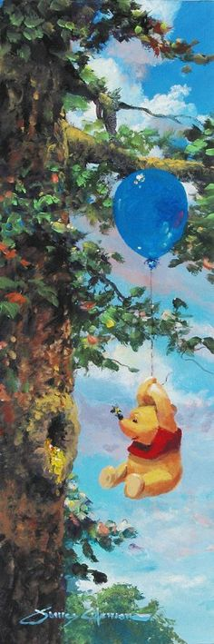James Coleman Up in the Air Giclee on Canvas - From Disney Winnie the Pooh   CEUPAIR $550.00
