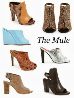 Sense & Sequins: Spring Shoe Trend: Mule