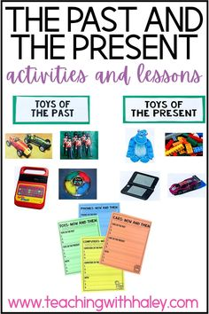 Past and present worksheets, activities
