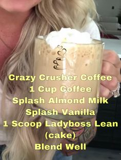 Crazy Crusher Coffee Ladyboss Using Ladyboss Lean (cake) you can make a delicious morning coffee MEAL! Crazy Crusher Coffee Ladyboss Using Ladyboss Lean (cake) you can make a delicious morning coffee MEAL! Protien Shake Recipes, Protein Powder Recipes, Protein Shakes, Lean Protein Meals, Lean Meals, Protein Power, Healthy Protein, Mr Olympia, Phil Heath