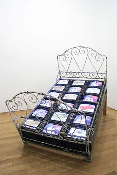So brilliantly ahead of its time - Nam June Paik, TV Bed (1971 / 92)