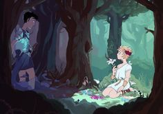 Credit to Tuckerenthusiast on Tumblr. Plan: Craig is a knight lost in the woods and stumbles upon flower nymph Tweek.