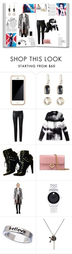 """Sem título #12905"" by nathsouzaz ❤ liked on Polyvore featuring Squair, Ippolita, Paige Denim, Mary Katrantzou, Alexander Wang, Gucci, 3.1 Phillip Lim, Movado, Erica Anenberg and KATIE Design"