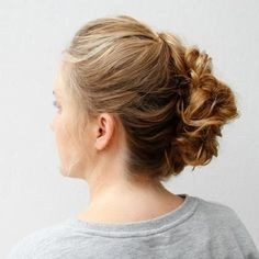 This prom updo, inspired by boho-chic beauty Vanessa Hudgens, looks like a sexier, party-ready version of the French twist. It's a perfect hairstyle for girls with naturally curly locks like Vanessa's. Get the full tutorial here. Christmas Party Hairstyles, Christmas Hair, Easy Updo Hairstyles, Wedding Hairstyles, 1930s Hairstyles, Hair Updo, Hairstyle Ideas, Vanessa Hudgens, Hair Styles 2016