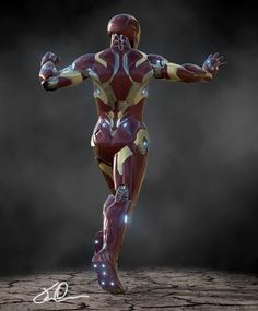 Marvel Comics Art, Marvel Fan, Marvel Avengers, Iron Man Suit, Iron Man Armor, Marvel Concept Art, Robot Art, Robots, Iron Man Avengers