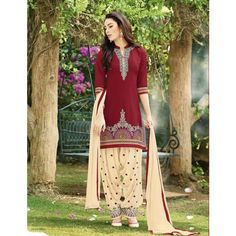 beautiful cotton Embroidery unstitched patiala suit