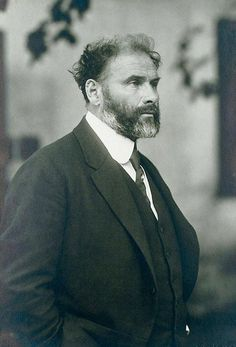 Gustav Klimt, Viena, 1917, fotografía de Moriz Nähr