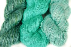 Organic hand dyed bamboo yarn River Kupa vegan yarn by Klarabela